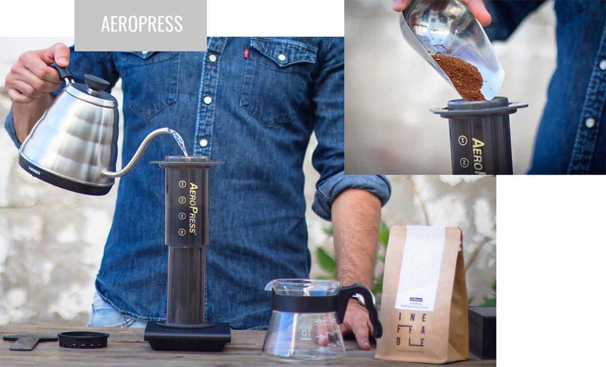 Preparación de café con AeroPress