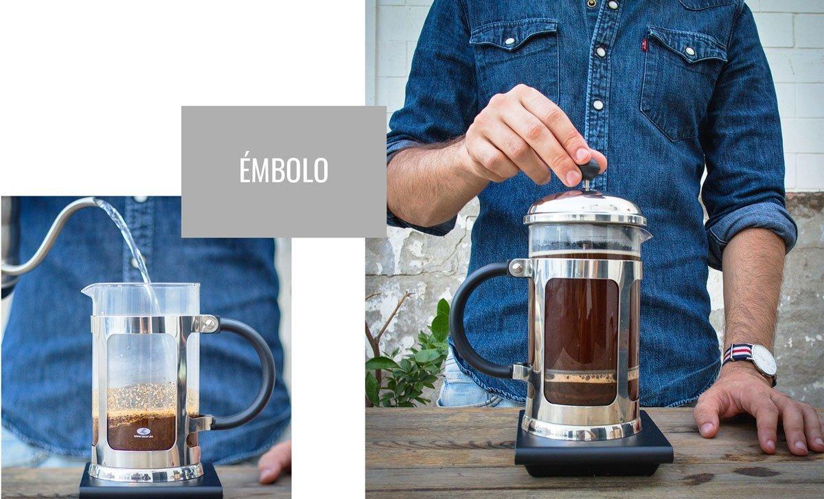 Preparación de café con Clever