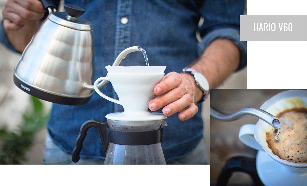 Preparación de café con Hario V60