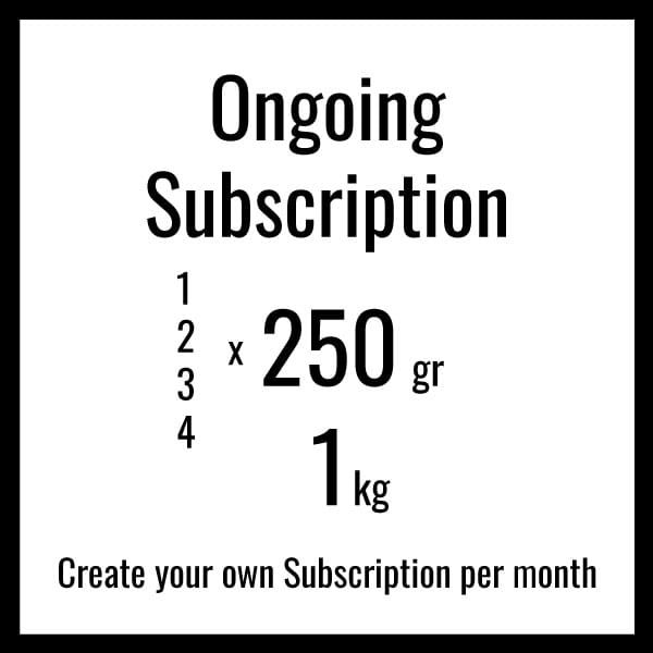 Ongoing subscription specialty coffee on the 22nd of each month. We believe every coffee has an ideal roast degree in which reveals best the unique and highly