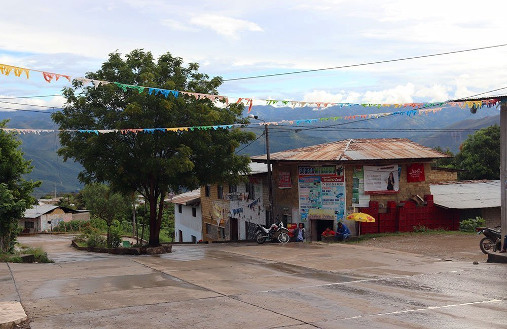 Peruvian coffee from producer Marcial Olivera. View of the village