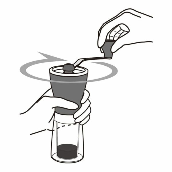 HARIO Mini Mill molinillo de café manual para café de especialidad. Nos brinda una molienda consistente gracias al diseño de sus muelas cónicas de cerámica.