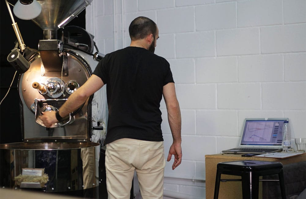 Roasting day at Ineffable Coffee Roasters