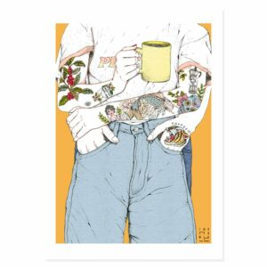 In coffee in love illustrations