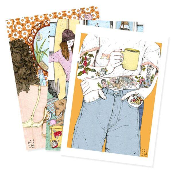 Ineffable by Ana Jarén es el encuentro entre el mundo del café y la ilustración donde el café es protagonista.