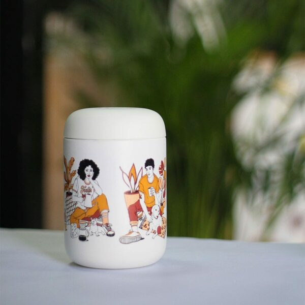 Fellow Carter Everywhere Mug 12oz. A travel mug so you can enjoy the specialty coffee.