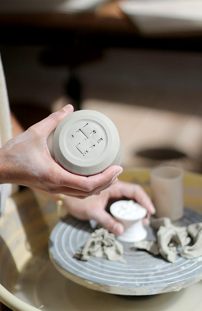 Ceramic cup in collaboration with Virgen Cerámica
