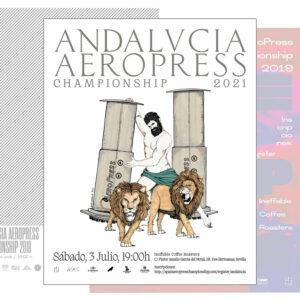 Cartel Andalucía AeroPress Championship 32x45 cm