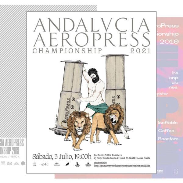 Andalucía AeroPress Championship poster 32x45 cm